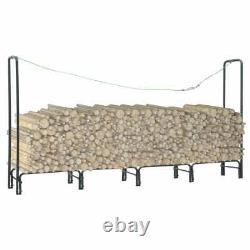 Metal Firewood Log Storage Wood Store Fireplace Wooden Firewood Storage Carrier