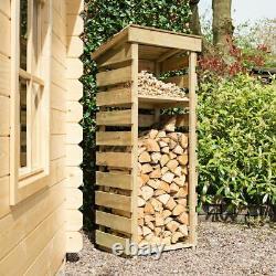 Narrow Garden Wood Log Store Storage Timber Wooden Unit Pressure Treated