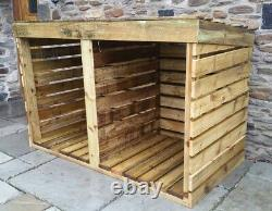 New Treated Wooden Log Store, Personalised, Made To Measure, Sheds