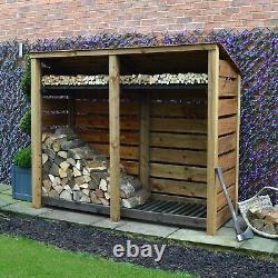 Normanton 6ft Outdoor Wooden Log Store Reversed Roof UK HAND MADE