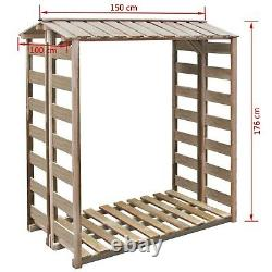 Outdoor Log Store Large Wood Storage Firewood Wooden Kindling Garden Shed Canopy