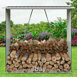 Outdoor Log Store Log Holder Garden Shed Wooden Firewood Stacking Storage Rack