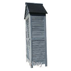 Premium Beach Hut Garden Wooden Sentry Box Outdoor Storage Tool Shed Log Store