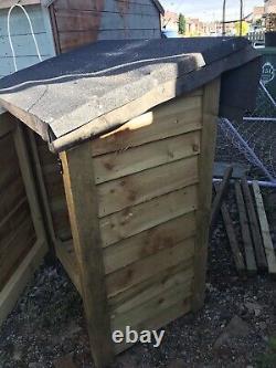 Ramsley 3ft Wide Outdoor Wooden Log Store + Door / Recyle Store