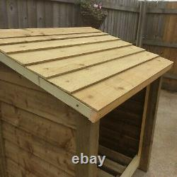 Ramsley 3ft Wide Outdoor Wooden Log store Available With Doors And Shelf