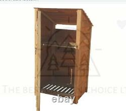 Reverse Roof Single Bay Wooden Log Store