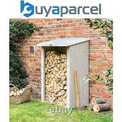 Rowlinson Heritage Grey Wooden Log Wood Store Garden Storage