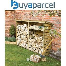 Rowlinson Large Wooden Log Wood Store Kindling Shelf Garden Storage