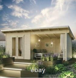 Rowlinson Oasis Log Cabin Summerhouse Garden Office Room Store Wooden Chalet New
