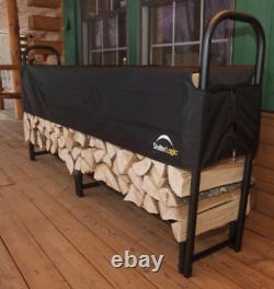 Shelterlogic Metal Heavy Duty 2.4 M Tall Double Bay Wooden Log Store Durable Uk