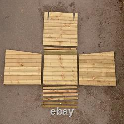 Signs & Numbers Wooden Log Store with Hinged Lid For Easy Access