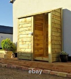 Tool Storage & Log Store Wooden (W-146cm, H-126cm/180cm, D-81cm) Green or Brown