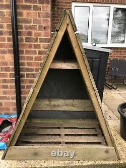 Triangle Logstore, Storage Firewood Rack Log, Store Wooden, Timber Wood