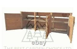 Triple Bay Wooden Log Store