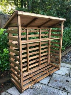UK-Gardens Wooden Large Log Store Fully Assembled