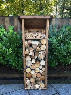 UK-Gardens Wooden Small Outdoor Log Store Fully Assembled