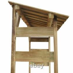 VidaXL Outdoor Wooden Log Store Garden Shed Firewood Stacking Storage Shed UK