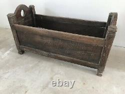 Vintage Antique Wooden Baby Crib Cot Storage Up-cycle Shabby Chic Log Store
