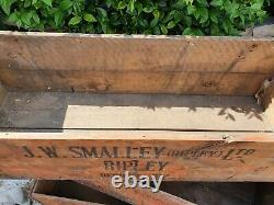 Vintage J. W Smalley Ripley Fyffes Banana Wooden Crate log store
