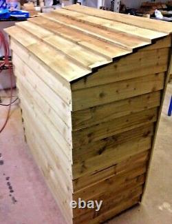 Wooden 4 ft Heavy Duty Log store. Tanalised Assembled