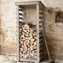 Wooden Aldsworth City Log Store, Garden Spruce Dry Fire Wood Storage Unit Shed