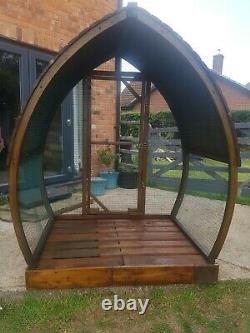 Wooden Arch Log Store