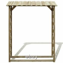 Wooden Garden Shed Wood Storage Log Firewood Store Outdoor Impregnated Pinewood