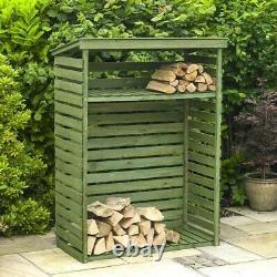 Wooden Log Garden Store firewood storage KINGFISHER LSTORE