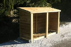 Wooden Log Store 4 Ft H X 6 Ft W (cvls4x6)