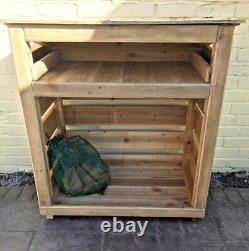 Wooden Log Store- 4 foot, pressure treated wood, Delivery, free 60 miles- st42bx