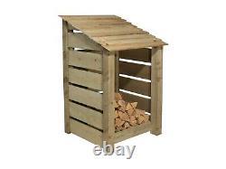 Wooden Log Store, Slatted Firewood Storage (W-79cm, H-126cm or 180cm, D-81cm)