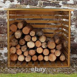 Wooden Log Store Wood Firewood Outdoor Garden Storage Logs Shed