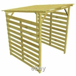 Wooden Log Store Wood Firewood Outdoor Garden Storage Logs Shed Roof Heavy Duty