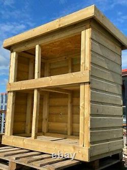 Wooden Log Store for Garden Heavy Duty Shiplap Cladded Outdoor Storage Unit
