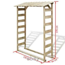 Wooden Outdoor Garden Logs Store Wood Firewood Storage Shed Patio Canopy House