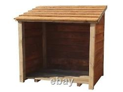 Wooden Outdoor Log Store, Fire Wood Storage Shed W-1190mm x H-1180mm x D-710mm
