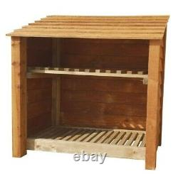 Wooden Outdoor Log Store, Fire Wood Storage Shed W-1190mm x H-1260mm x D-810mm