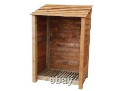 Wooden Outdoor Log Store, Fire Wood Storage Shed W-1190mm x H-1800mm x D-810mm