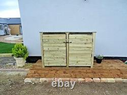 Wooden Outdoor Log Store, Fire Wood Storage Shed W-1870m x H-1260mm x D-810mm