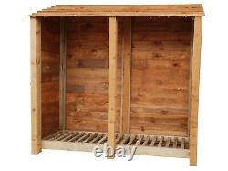Wooden Outdoor Log Store, Fire Wood Storage Shed W-1870mm x H-1800mm x D-810mm
