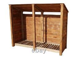 Wooden Outdoor Log Store, Fire Wood Storage Shed (W-227cm, H-180cm, D-81cm) Sale