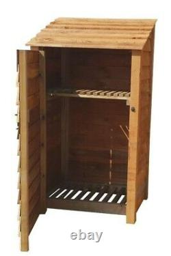 Wooden Outdoor Log Store, Fire Wood Storage Shed W-990mm x H-1800mm x D-810mm