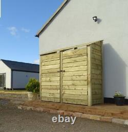 Wooden Outdoor Log Store, Fire Wood Storage (W-187cm, H-180cm, D-81cm) Sale