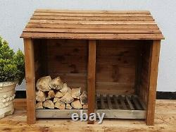 Wooden Outdoor Log Store Fire Wood Store W-1460mm x H-1260mm x D-810mm Clearance