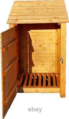 Wooden Outdoor Log Store, Firewood Storage