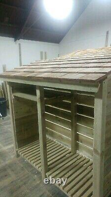 Wooden log store, Garden bars, Logs, Boys toys, Patio furniture, Barbeque