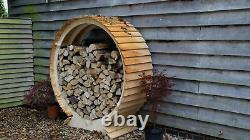 Wooden round large log store