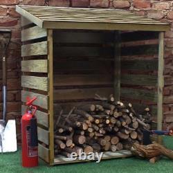 3ft Log Store Pressure Traité Logstores En Bois Nouveau Logstore En Bois Non Utilisé