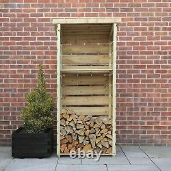 3x2 Log Store Pression Pression Treated Wooden Logstores Wood Logstore 3ft 2ft Nouveau