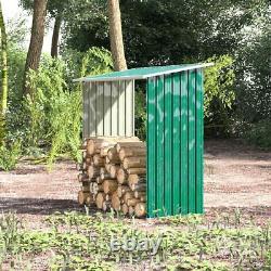 5.3ft Jardin En Bois Cheminée Cheminée Magasin De Bois De Chauffage Rangement Avec Revêtement De Toit